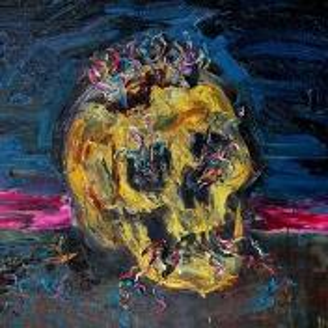 Фрагмент картины 1/3. Натюрморт. Цветок и череп