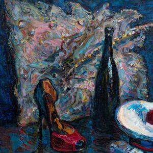 Фрагмент картины 1/3. Натюрморт с французской бескозыркой