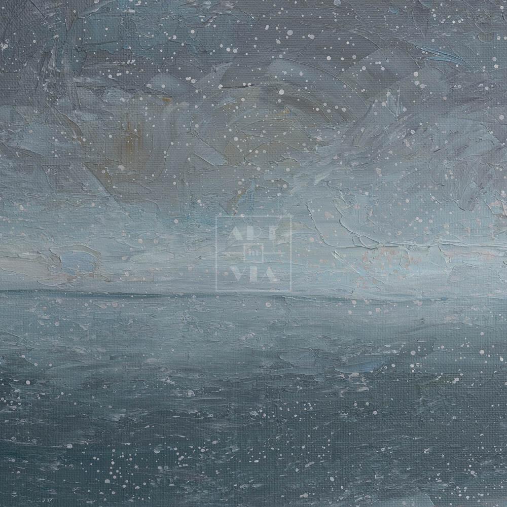 Фрагмент картины 3/3. Москва. Пейзаж. Снежный день в марте