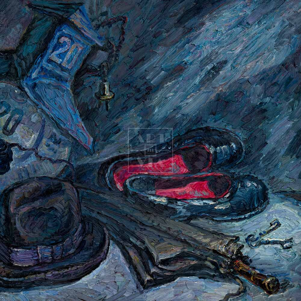 Фрагмент картины 1/3. Натюрморт с домовым знаком