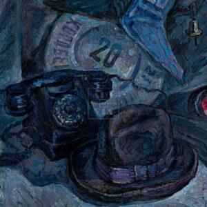 Фрагмент картины 3/3. Натюрморт с домовым знаком