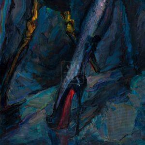 Фрагмент картины 1/3. Ню. № 11. Путана и зеркало