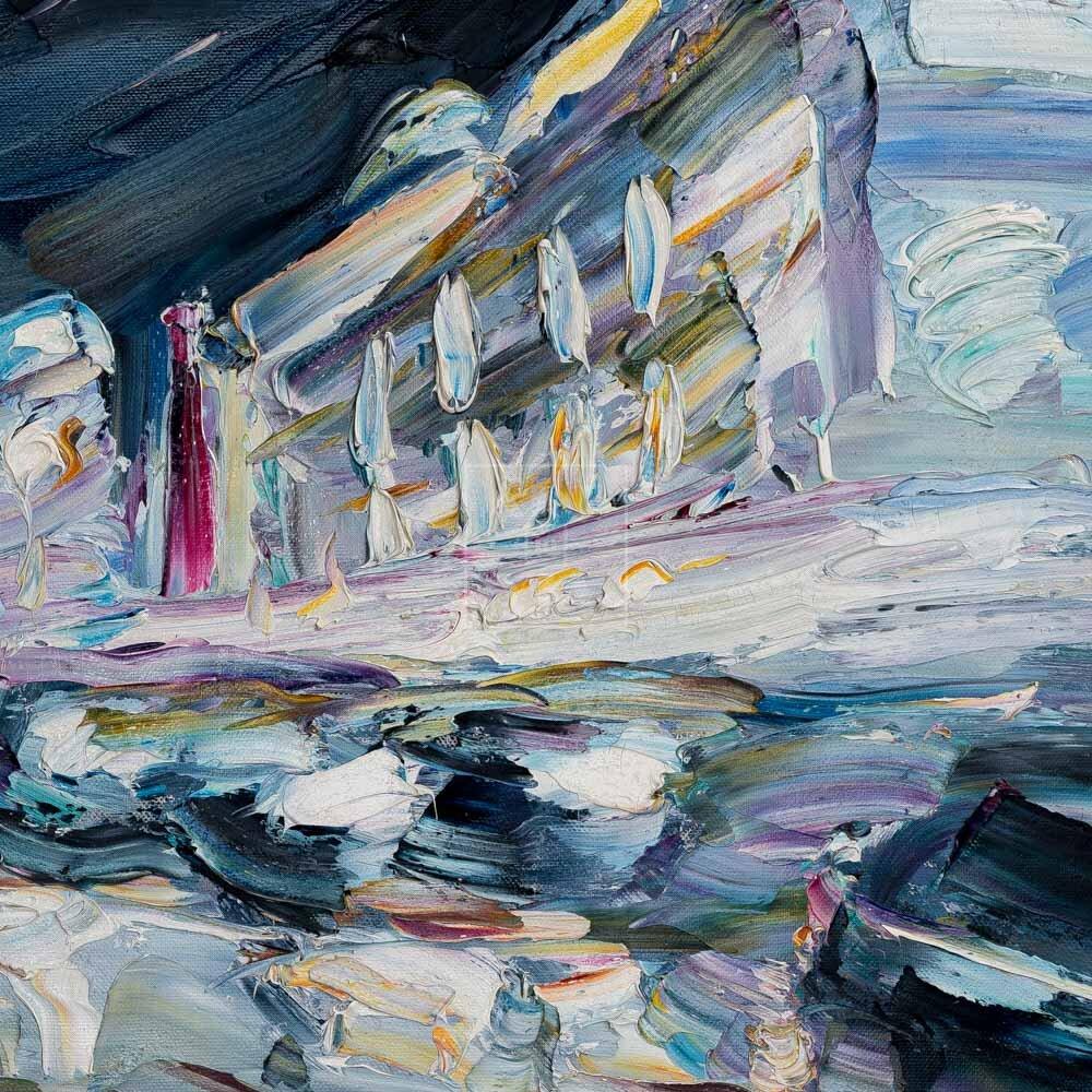 Фрагмент картины 1/3. Пейзаж. № 26. Тверская улица в час пик