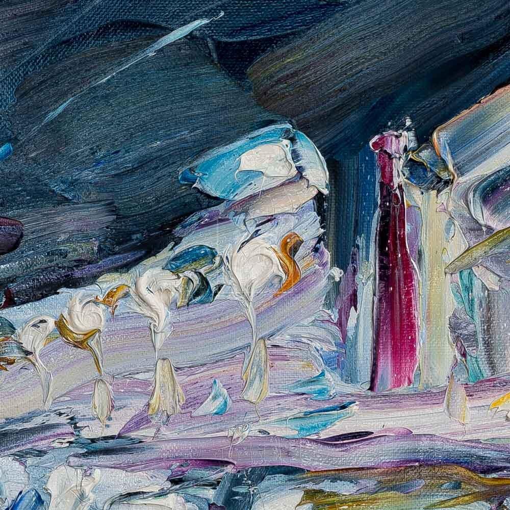 Фрагмент картины 2/3. Пейзаж. № 26. Тверская улица в час пик