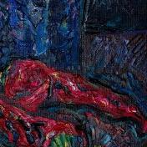 Фрагмент картины 2/3. Натюрморт. Чайник и красные перцы